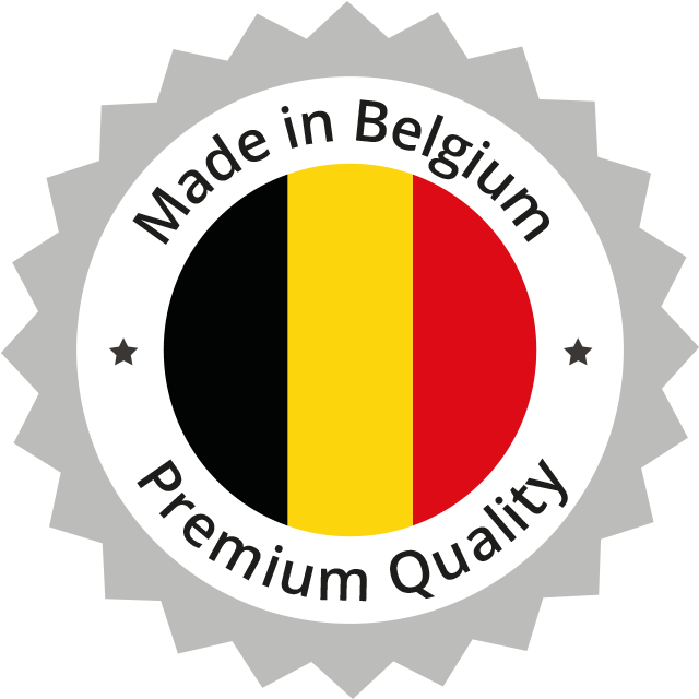Designed & made in Belgium